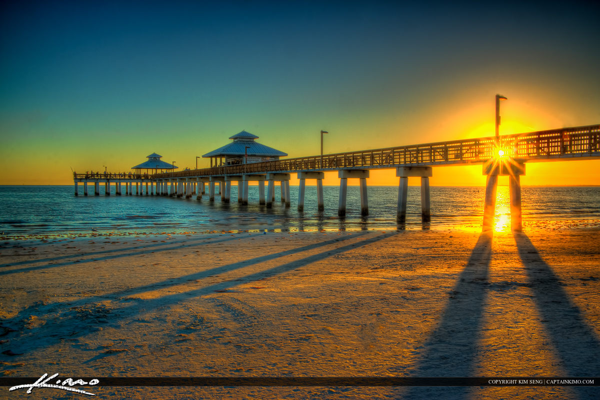 Fort Myers Fishing Pier Sunset at Beach