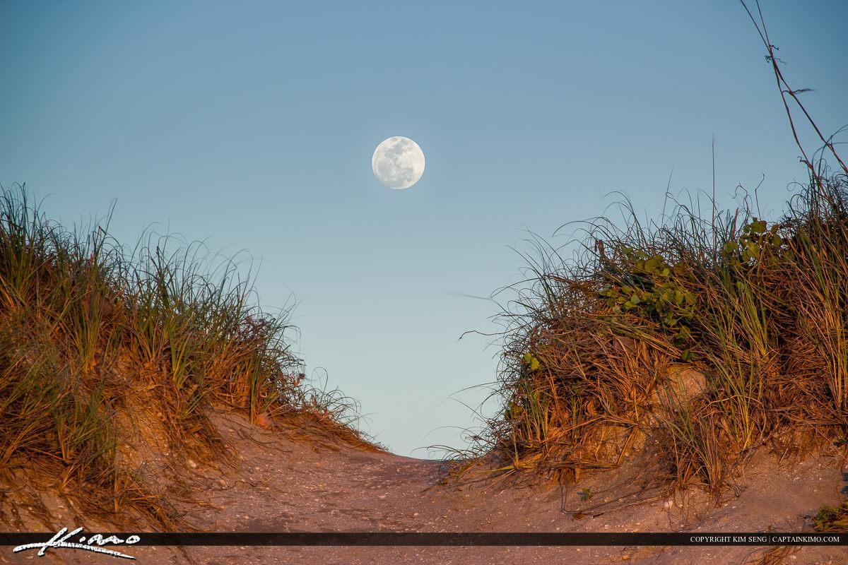 Moon Rise at the Beach Hutchinson Island