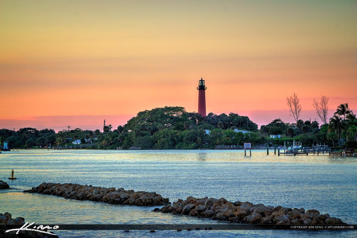 View of Lighthouse from Dubois Park in Jupiter