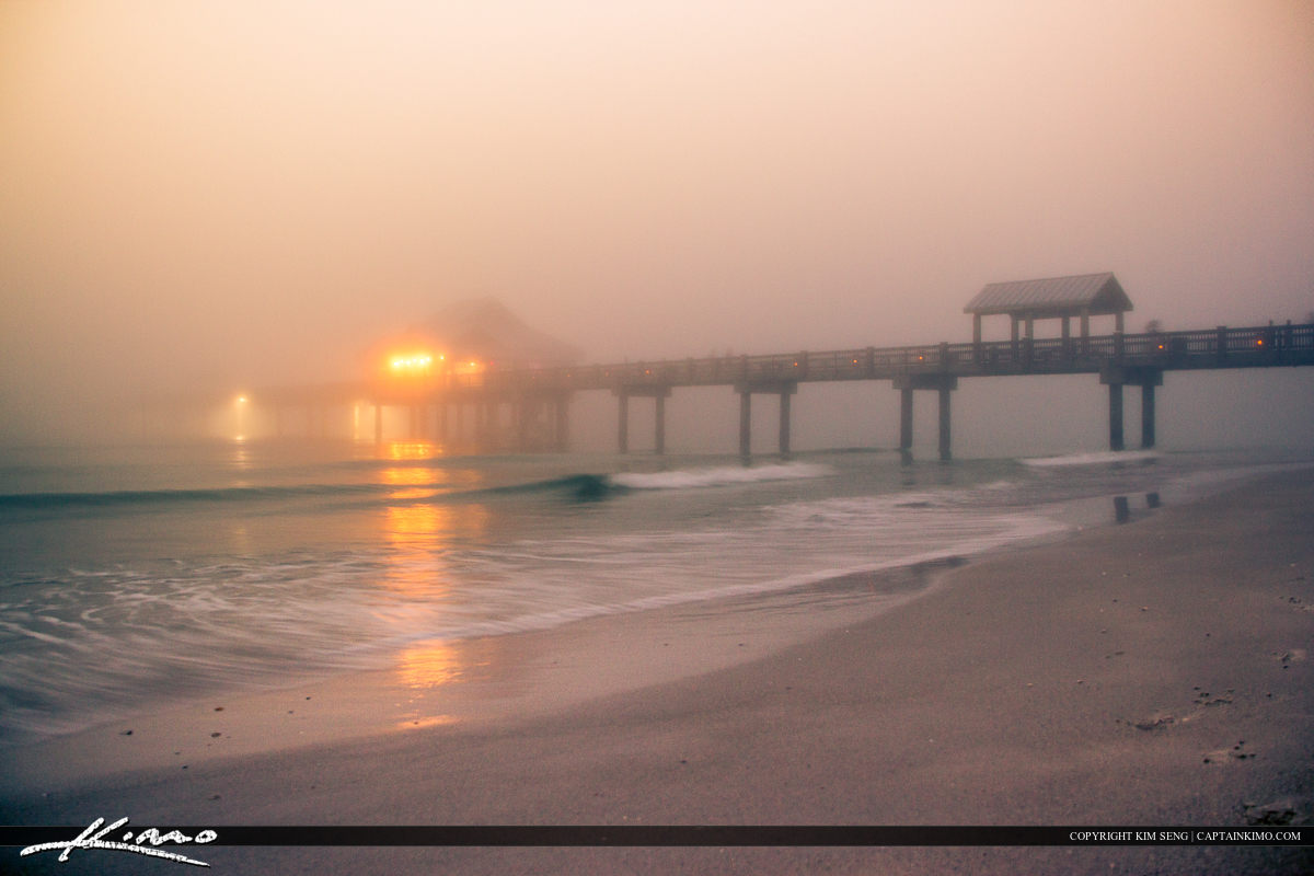 Pier 60 Covered in Fog Clearwater Florida Pinellas County