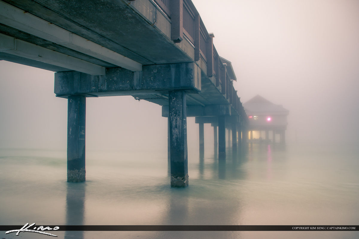 Sea Mist from the Gulf Coast at Pier Clearwater Florida Pinellas