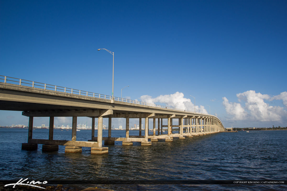 Blue Sky Rickenbacker Bridge Key Biscayne