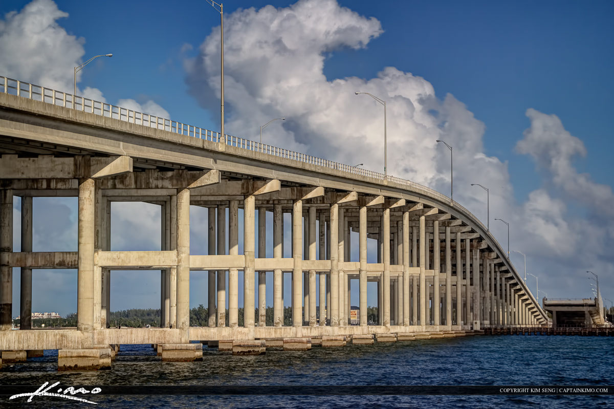 Rickenbacker Bridge Key Biscayne Florida