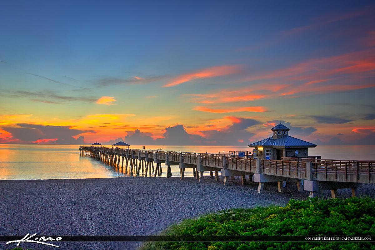Juno Beach Pier Sunrise East Coast Florida