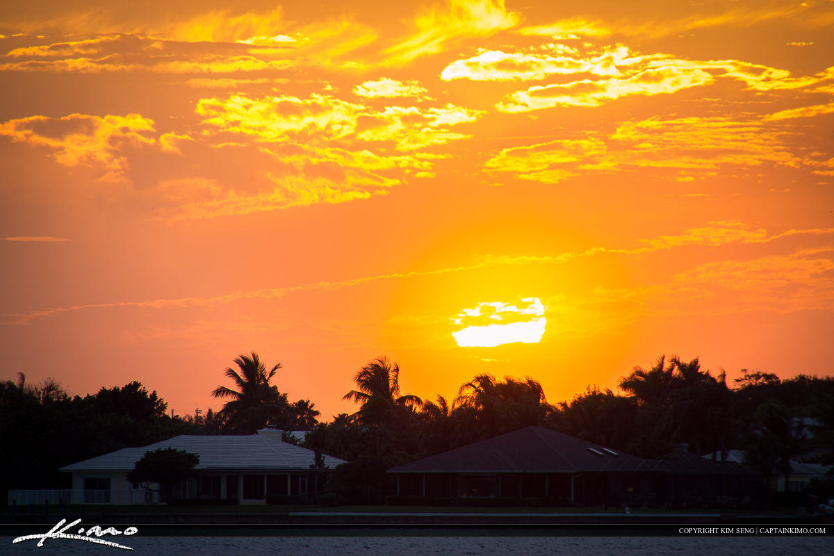 Vero Beach Sunset Over Indian River County
