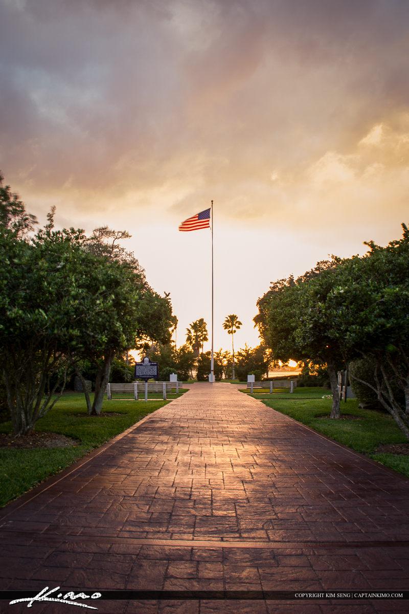 Vero Beach American Flag Flown High