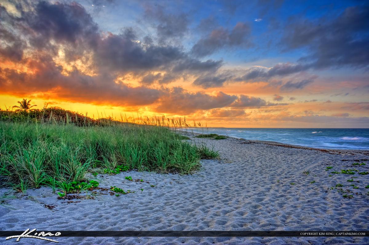 Hobe Sound Beach Sunset HDR Image
