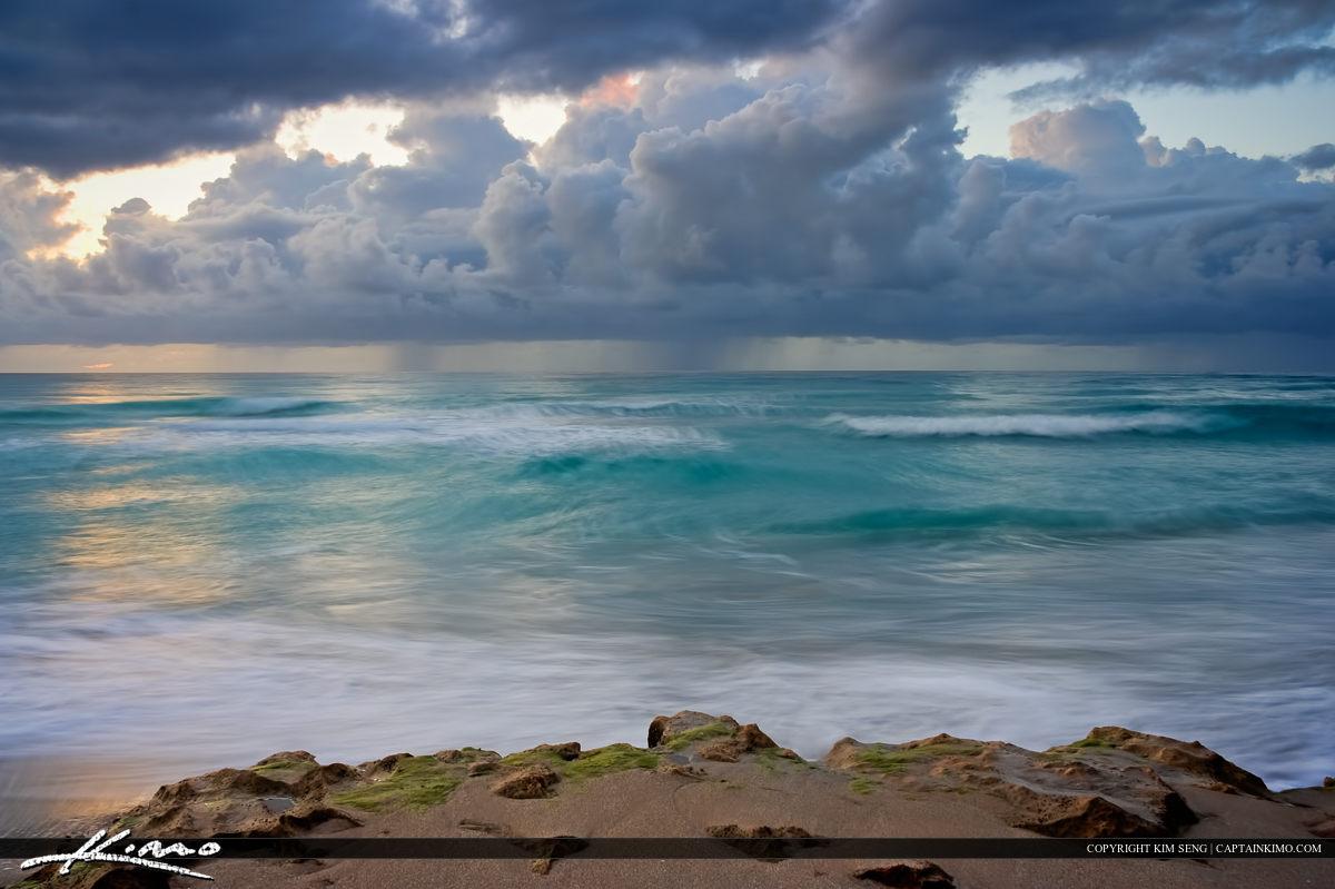 Atlantic Ocean Storm Sunrise Juno Beach