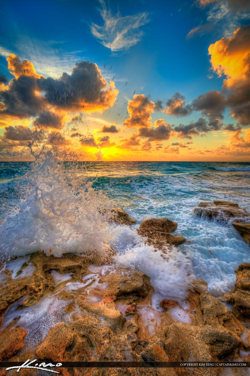 Beach Photography Jupiter Florida HDR Image