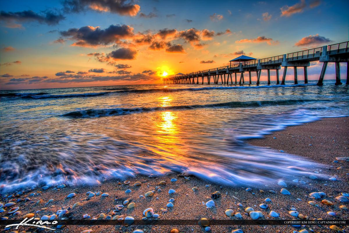 HDR Photography from Juno Beach Pier Sunrise