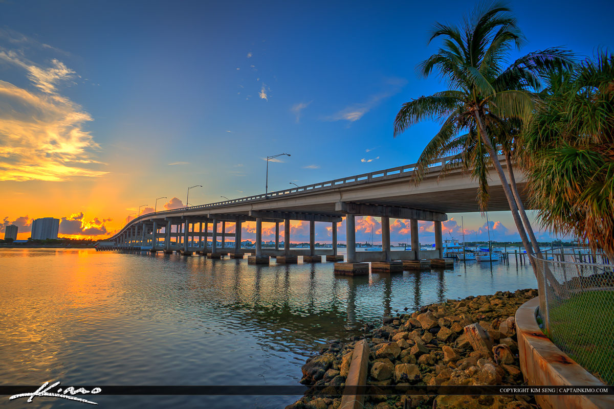 Blue Heron Bridge Sunrise Singer Island