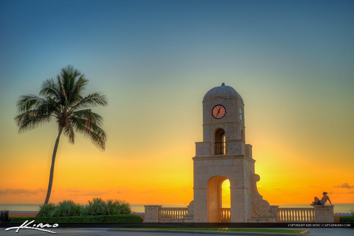 Watching Sunrise at Palm Beach Island