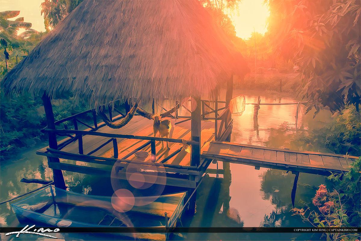 Tiki on the Water Battambang Cambodia