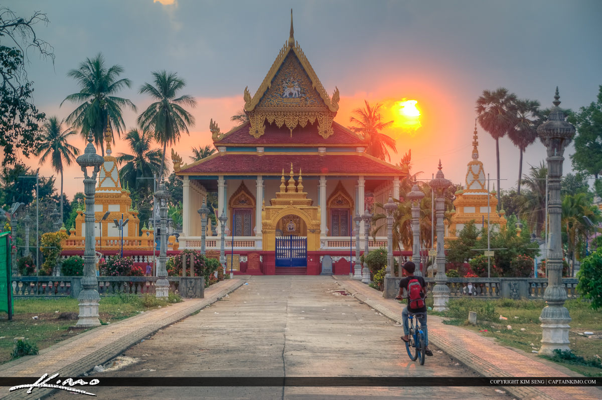 Sunset Cambodia Temple Battambang