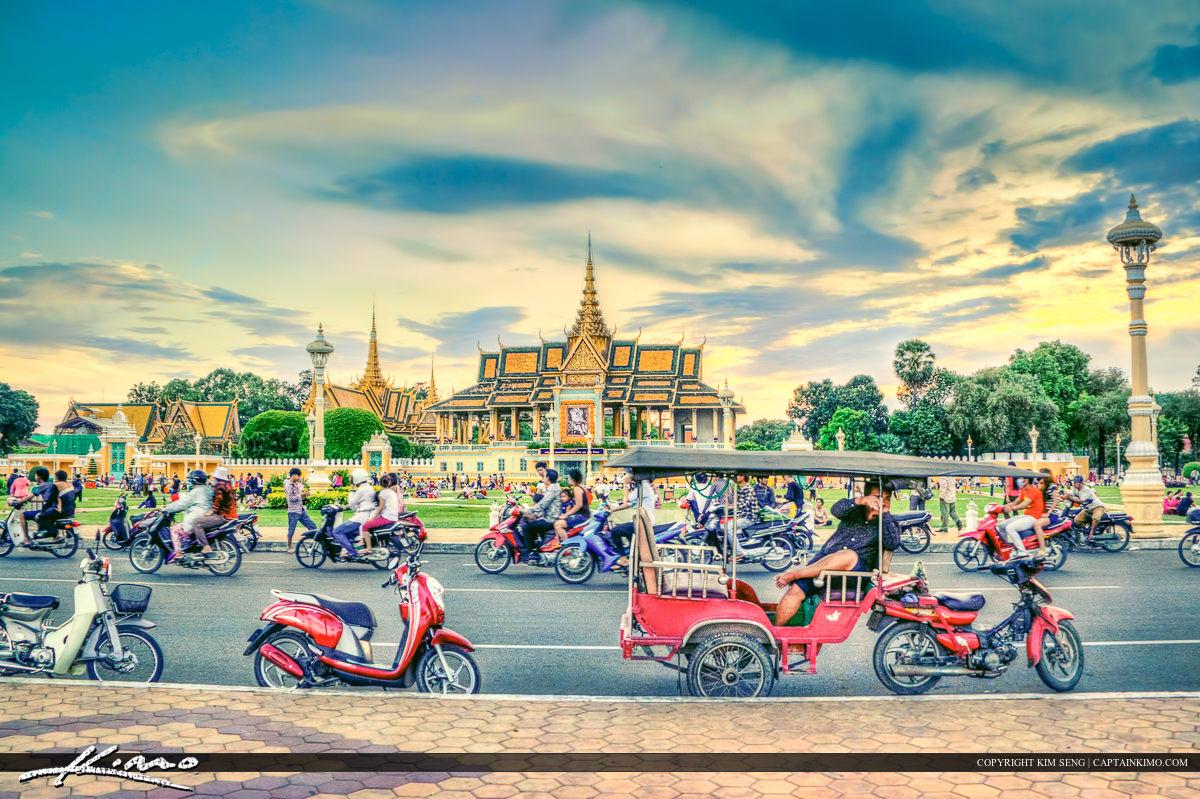 Phnom Penh Captial Along Street Cambodia
