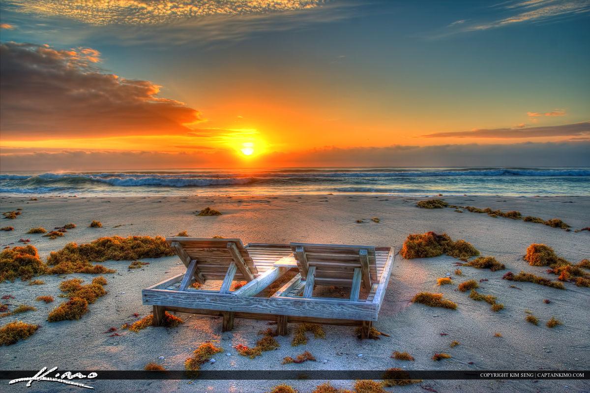 Beach Chair Watching Sunrise Singer Island