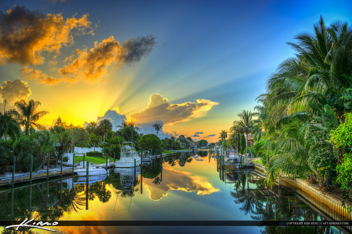 Waterfront Properties Along Cabana Colony Canal