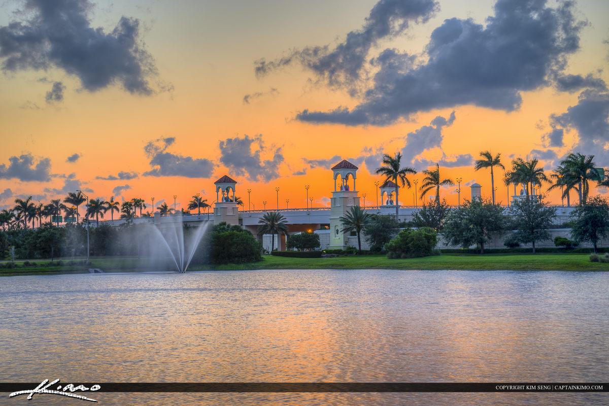 Sunset Over PGA Blvd Bridge Palm Beach Gardens