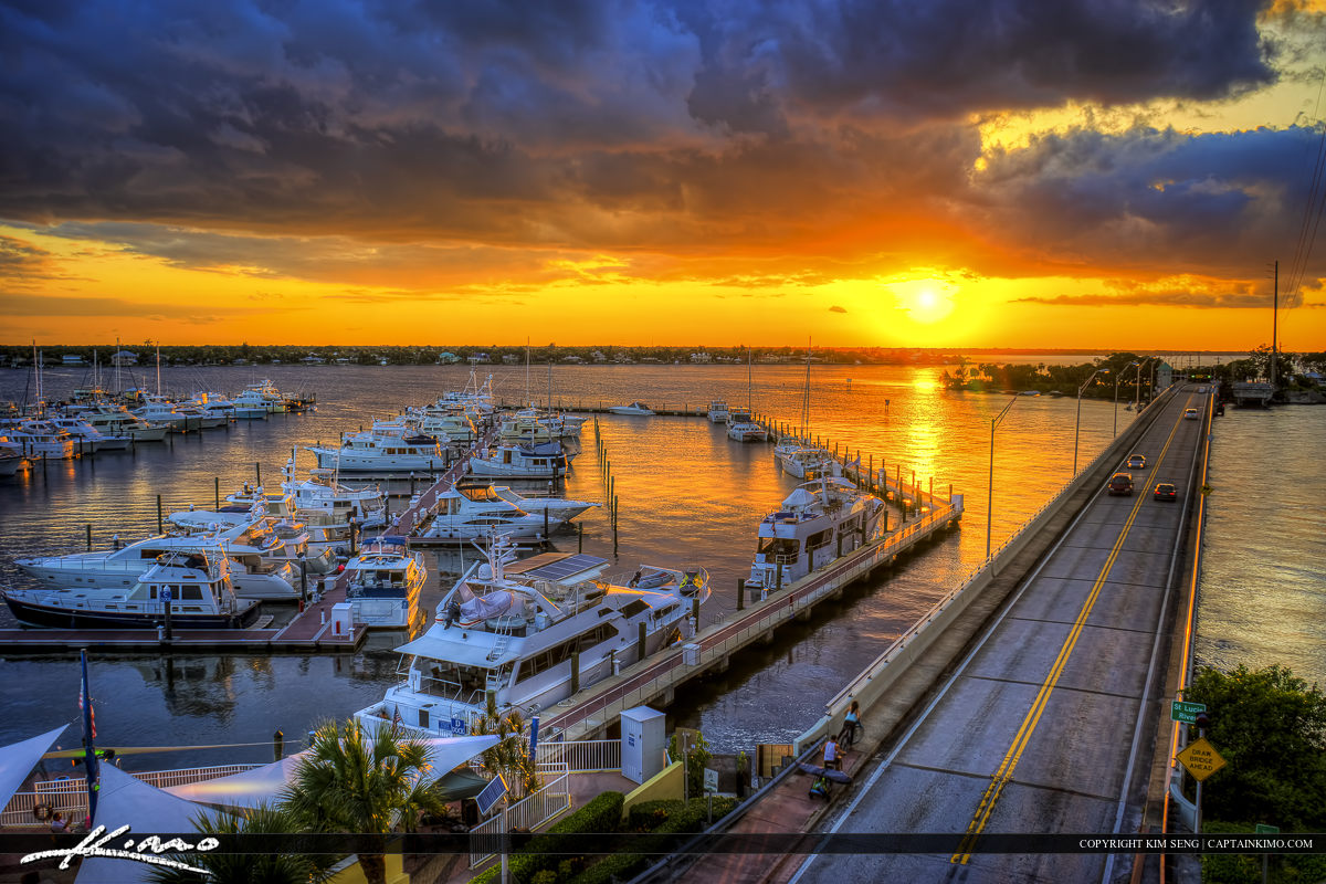 Sunset Marina Stuart Florida Along St. Lucie River