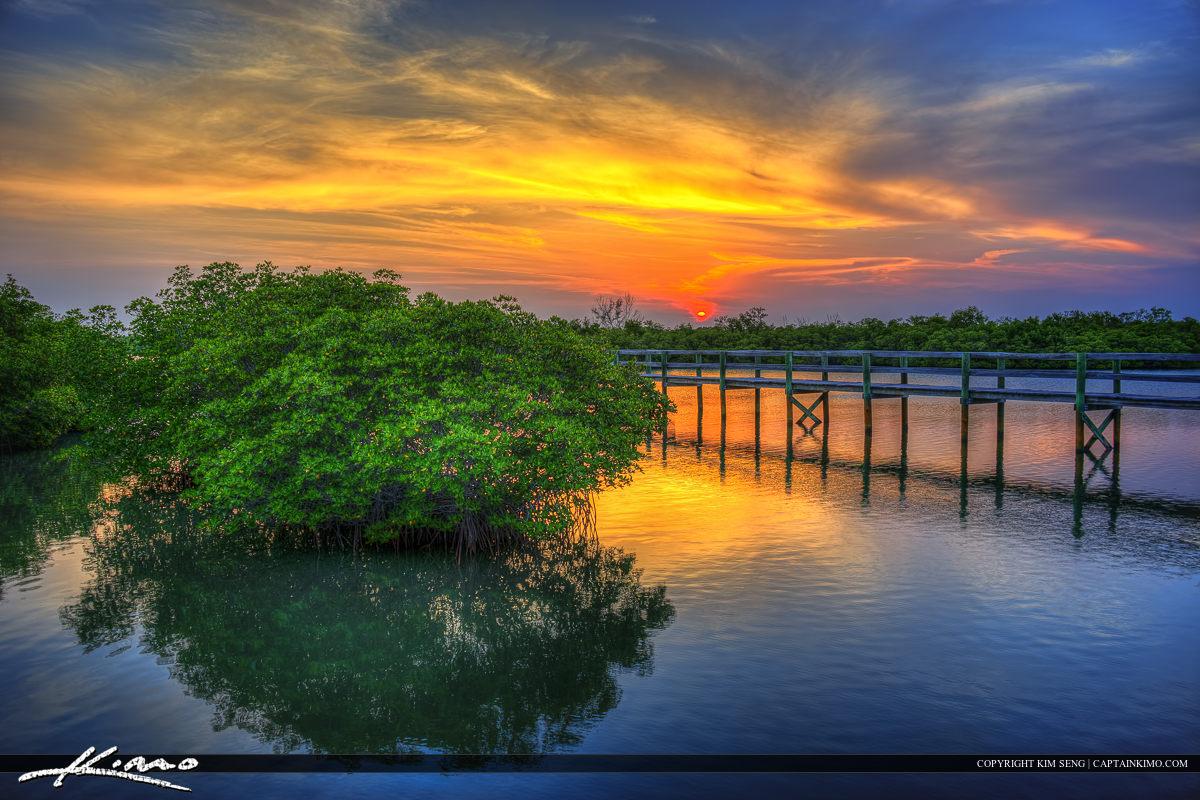Pepper Park Riverside Sunset at Pier