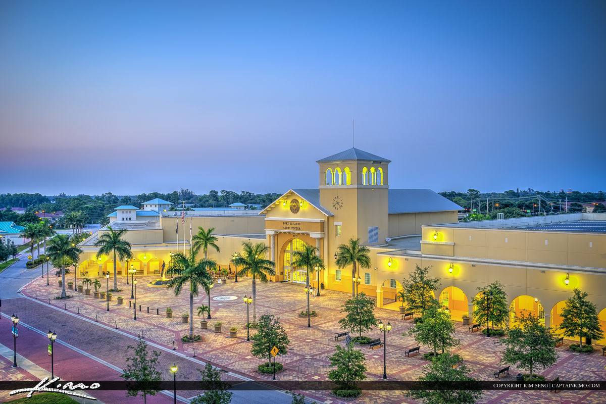 Civic Center of Port St. Lucie from Above