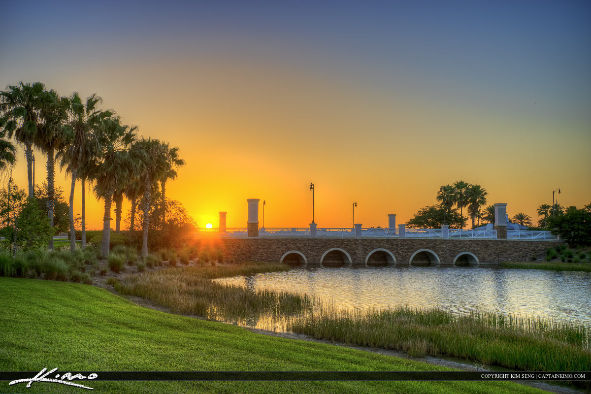 Bridge at Tradition During Sunset Over Port St. Lucie