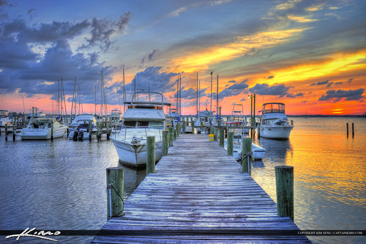 Sunset at the Dock in St. Lucie River Stuart