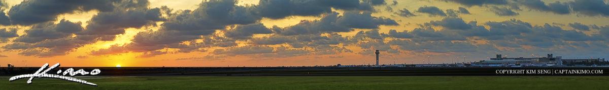 Palm Beach International Airport Sunset Panorama
