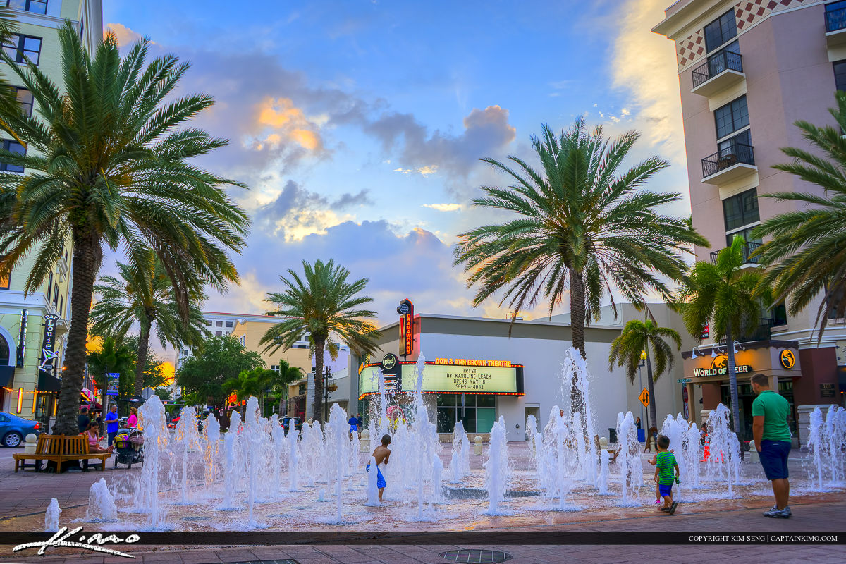 Flagler Park Water Fountain Clematis Downtown