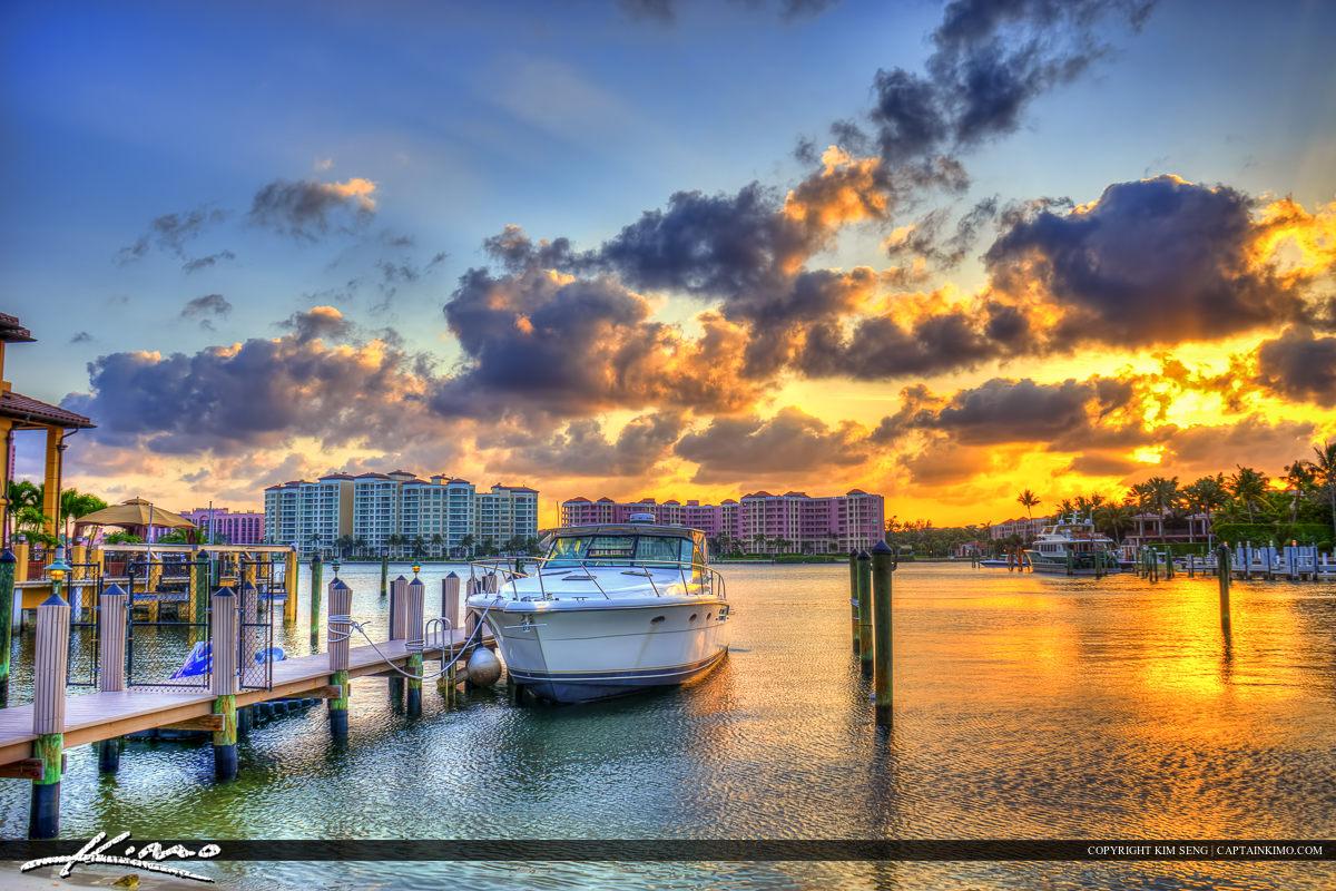 Boca Raton Boat Docked at Waterway