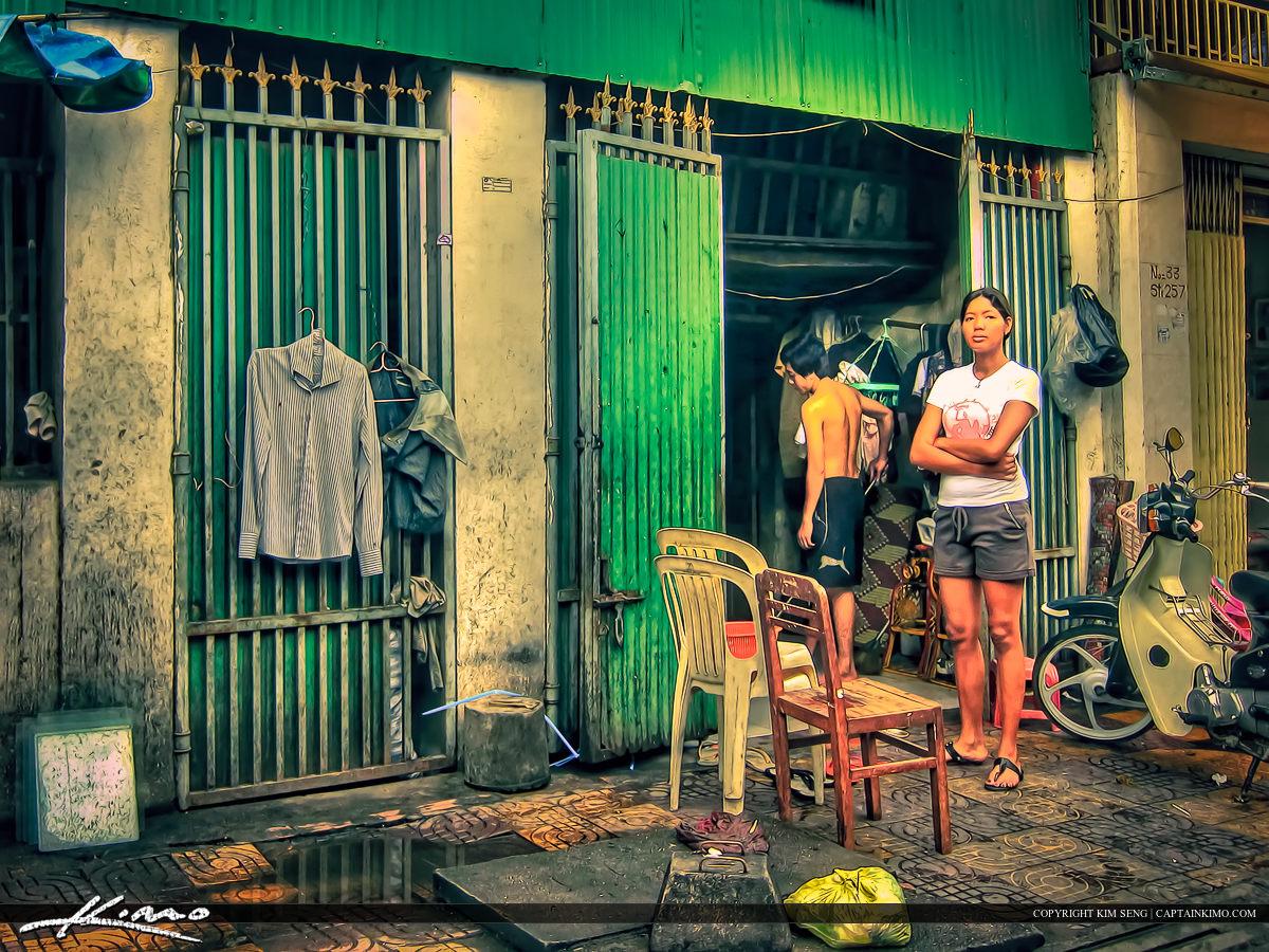 Woman Standing in Phnom Penh Cambodia