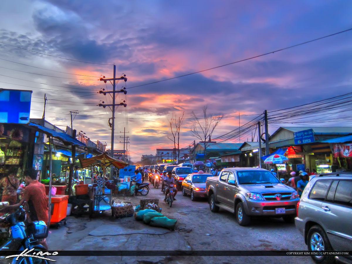 Street Traffic in Phnom Penh Cambodia
