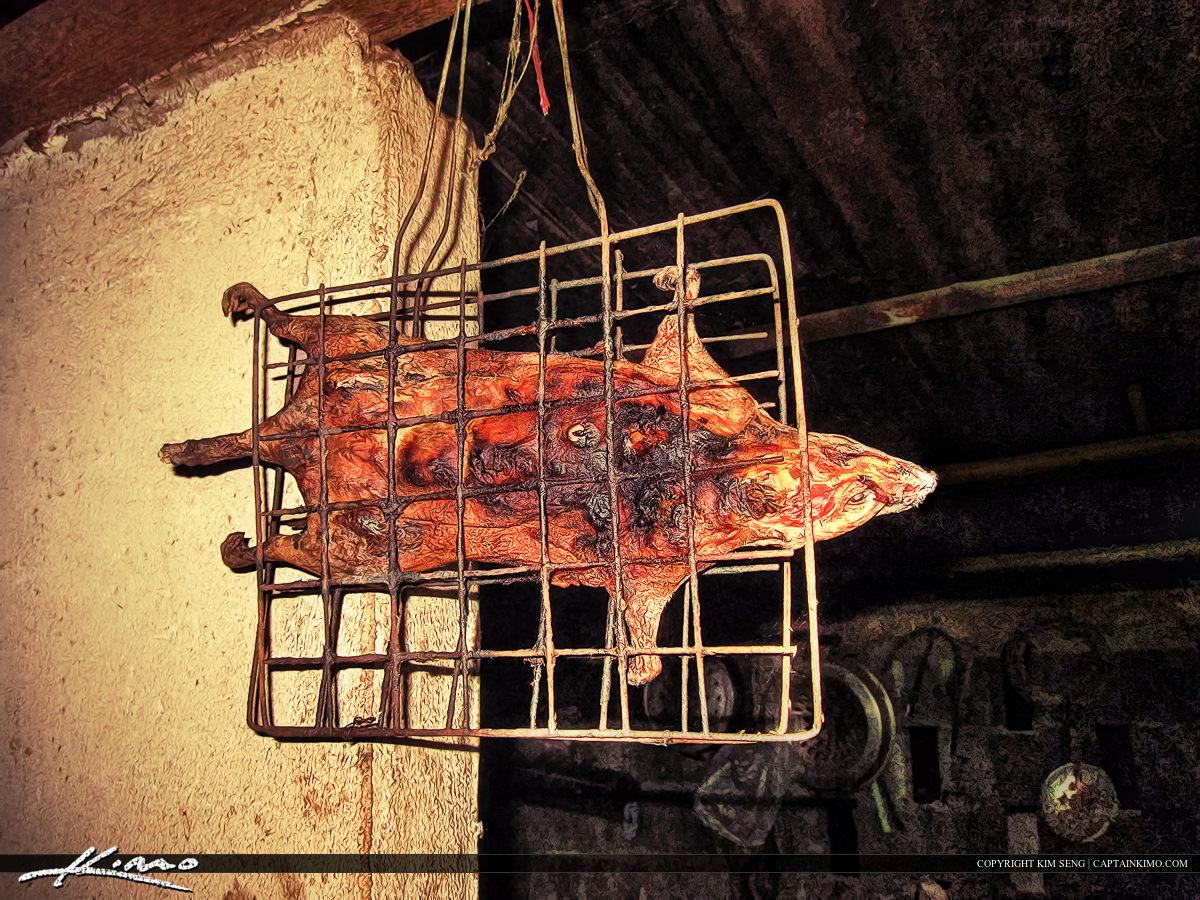 Roasted BBQ Rat for Dinner Thailand