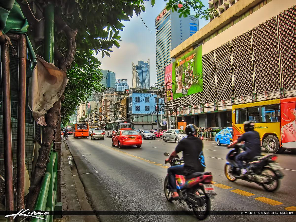 Main Road in Bangkok Thailand