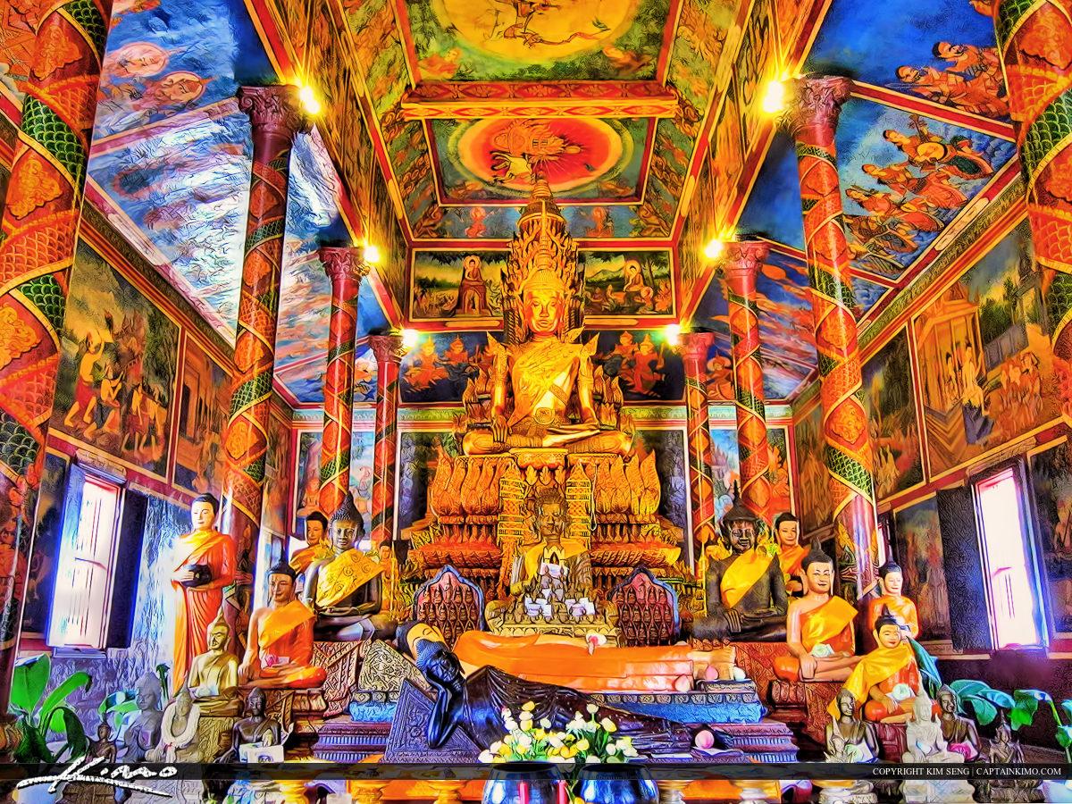 Golden Buddha Staute in Phnom Penh Cambodia