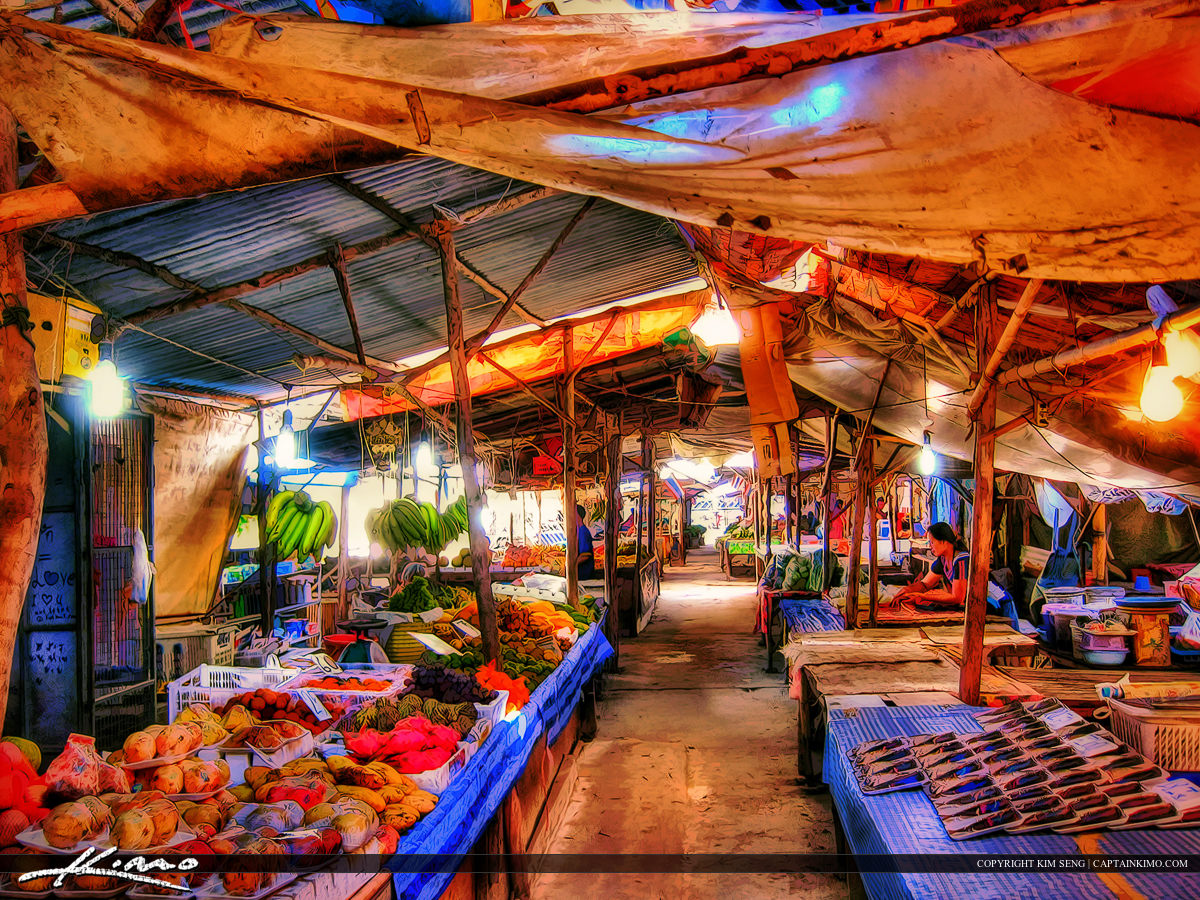 Country Market Outside of Bangkok Thailand