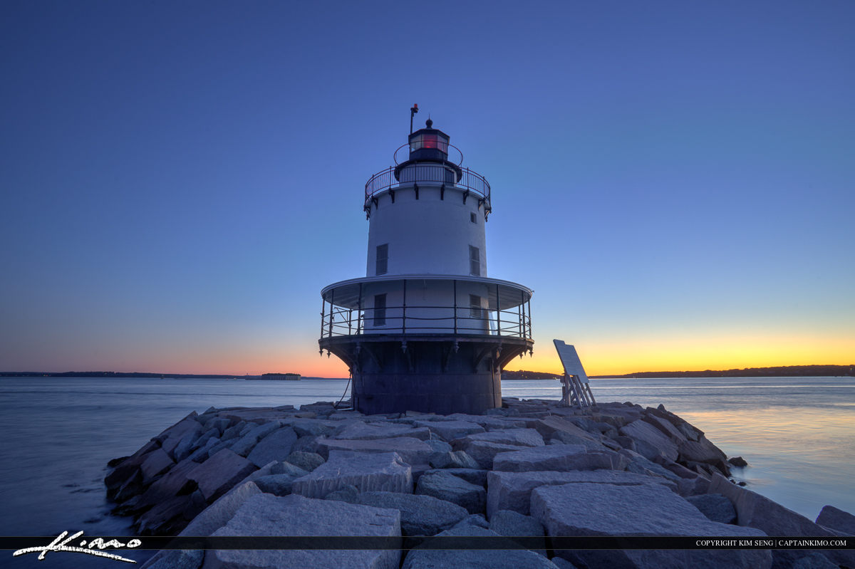 Up close at the spring point island ledge lighthouse South Portl