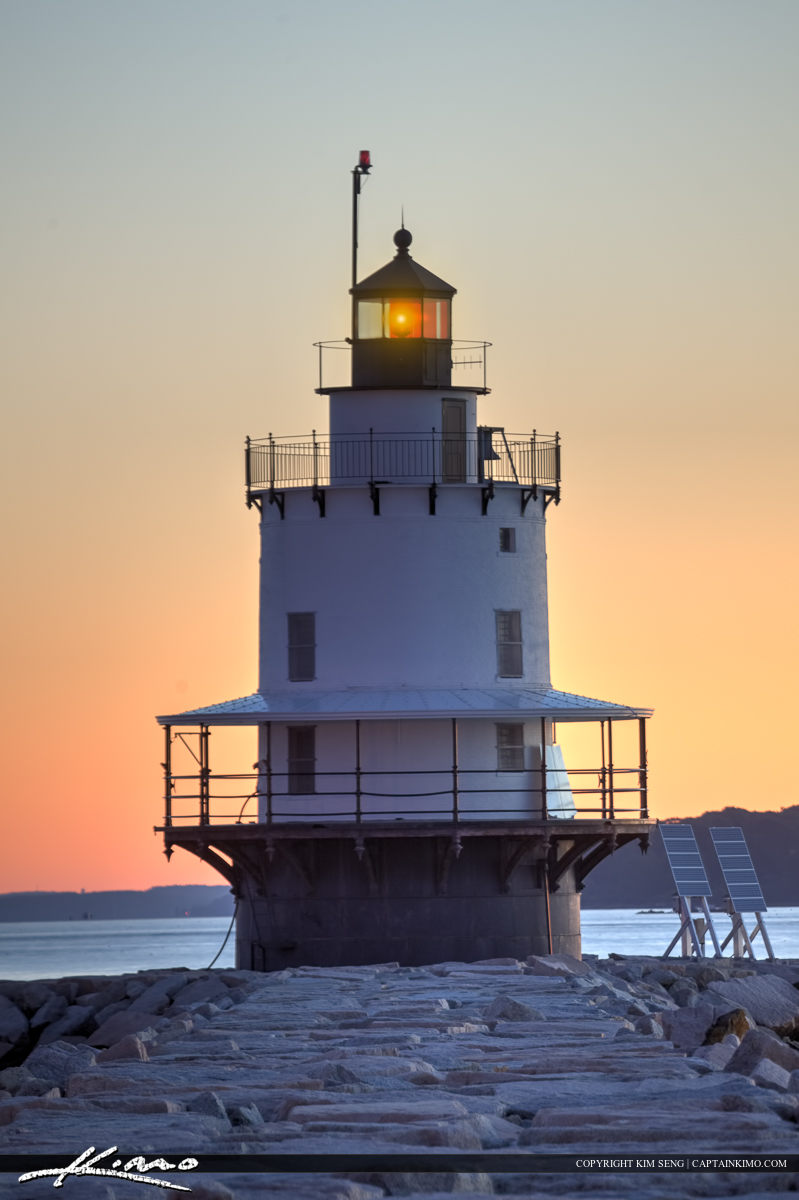 The Spring Point Island Lighthouse South Portland Maine