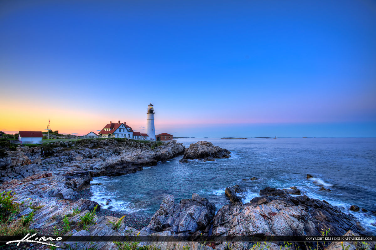 The lighthouse at Cape Elizabeth called Portland Head Light