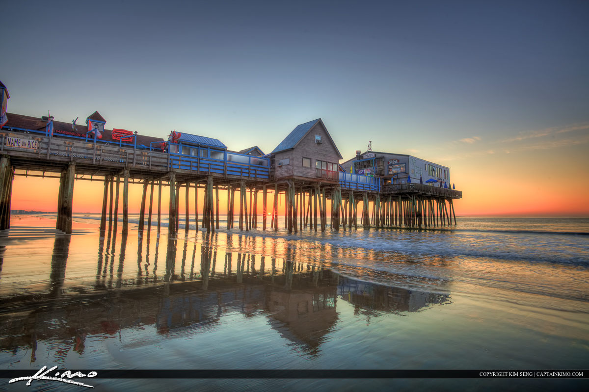 Sunrise at the old Orchard Beach pier