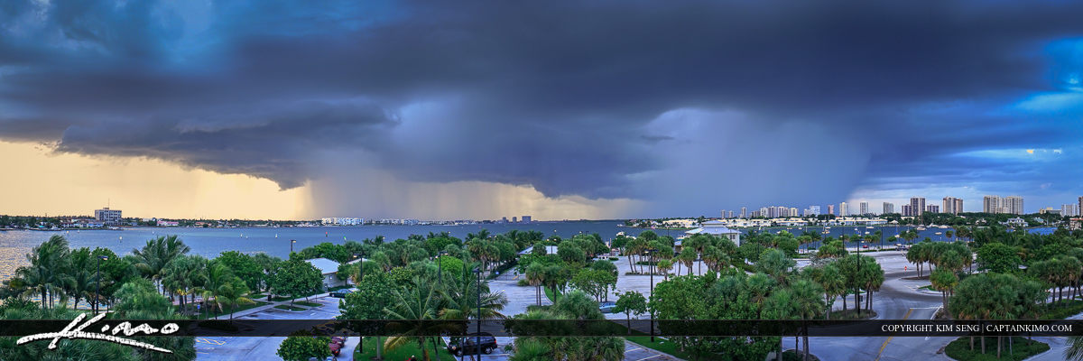 Storm Moving Over Palm Beach County Florida