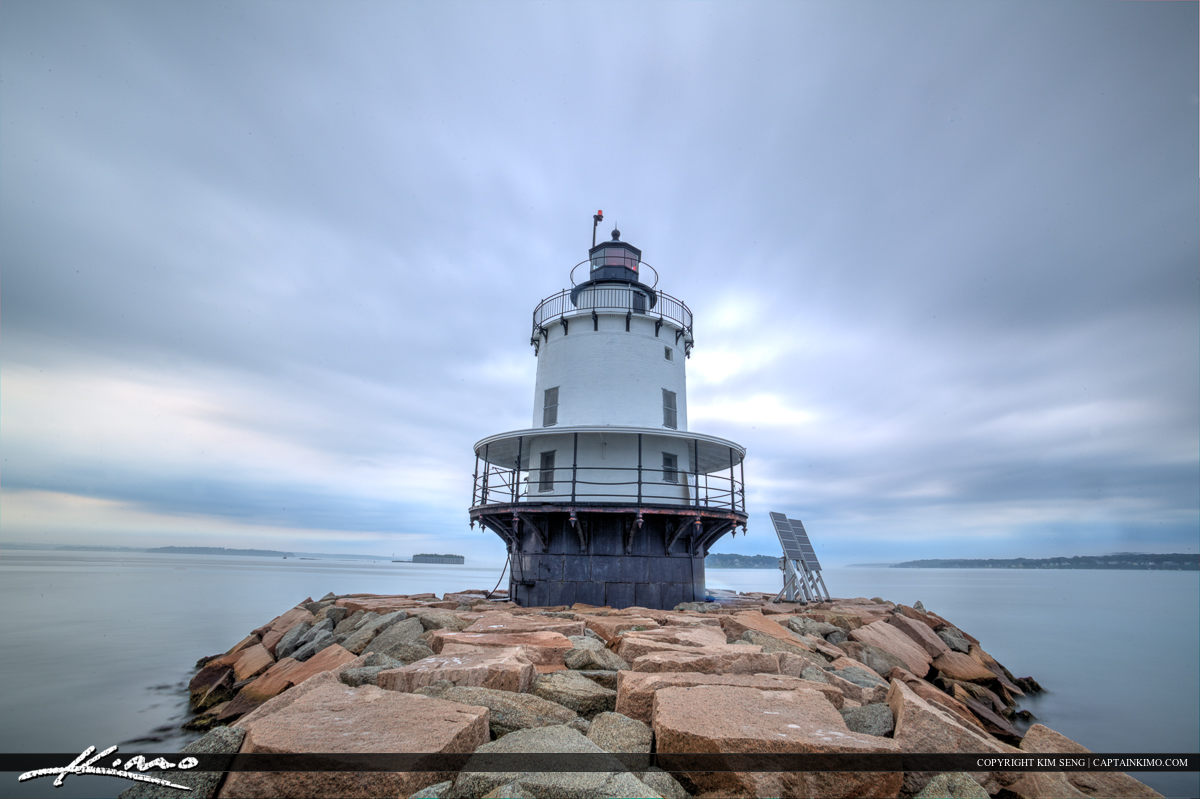 Spring lighthouse from South Portland Maine