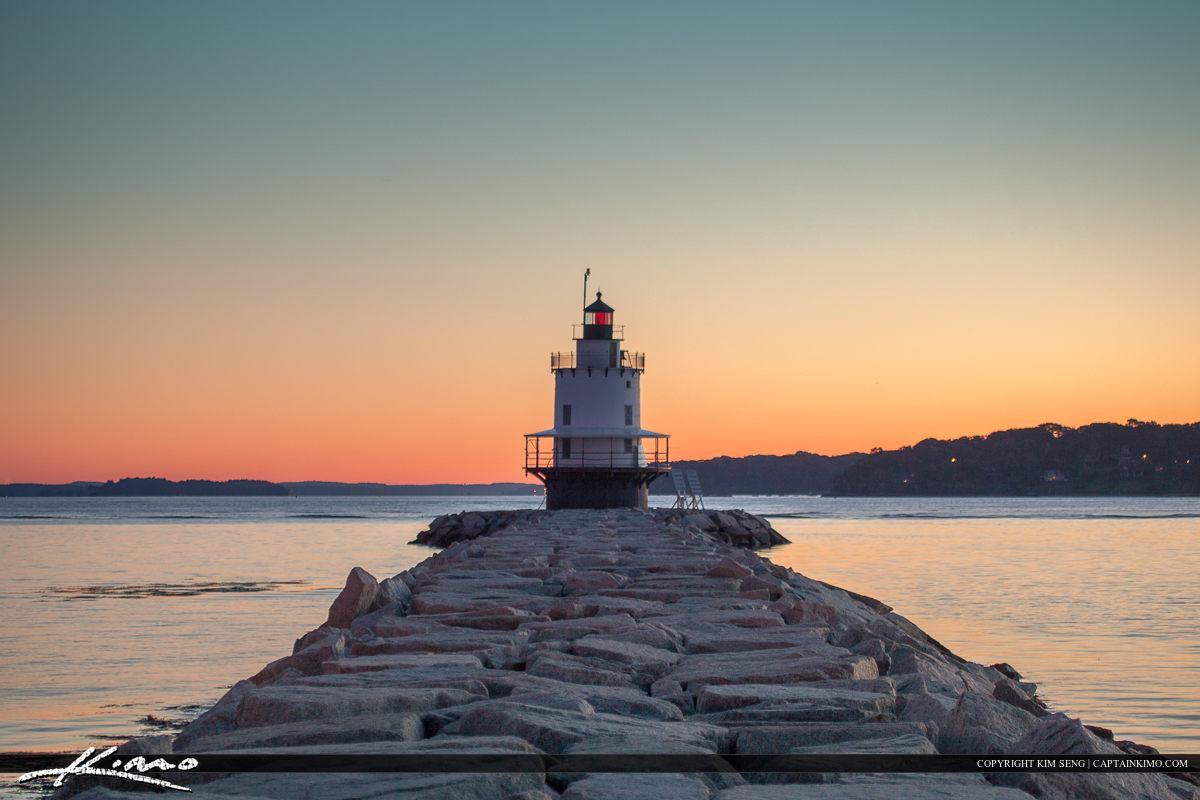South Portland Maine spring point Island lighthouse