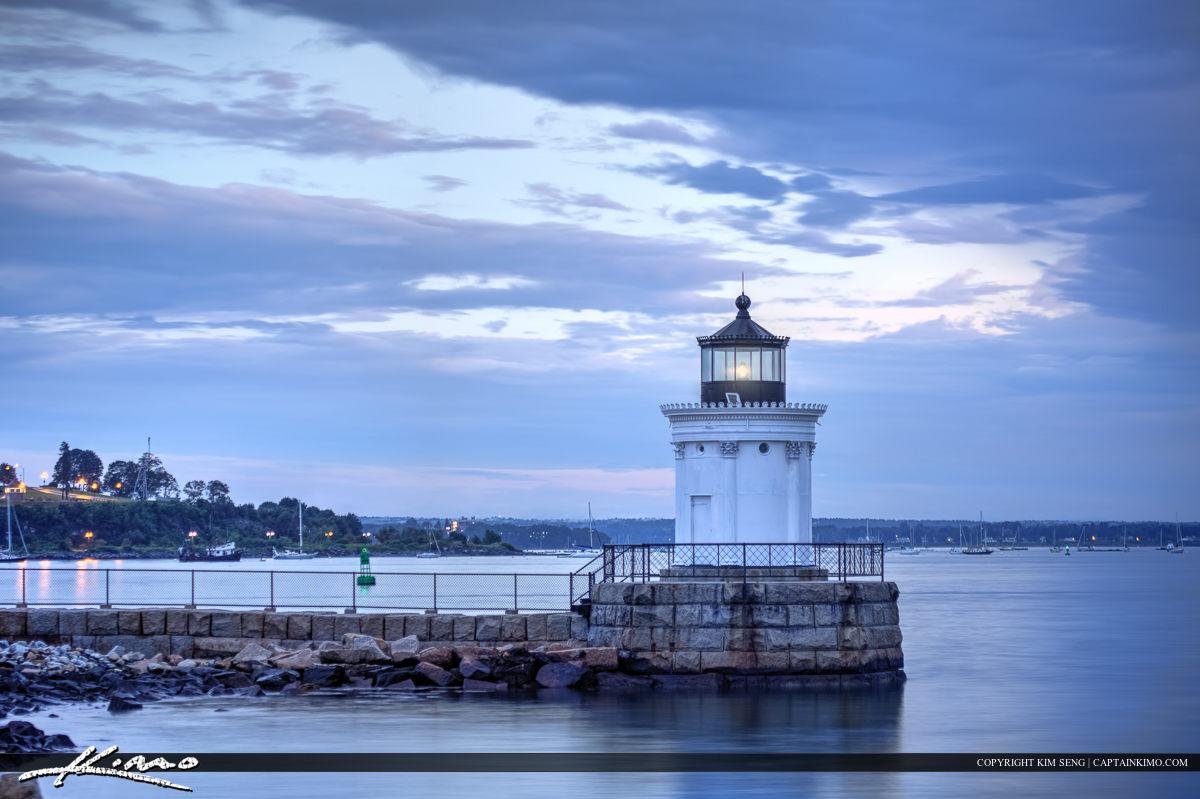 South Portland Maine lighthouse at Portland Harbor
