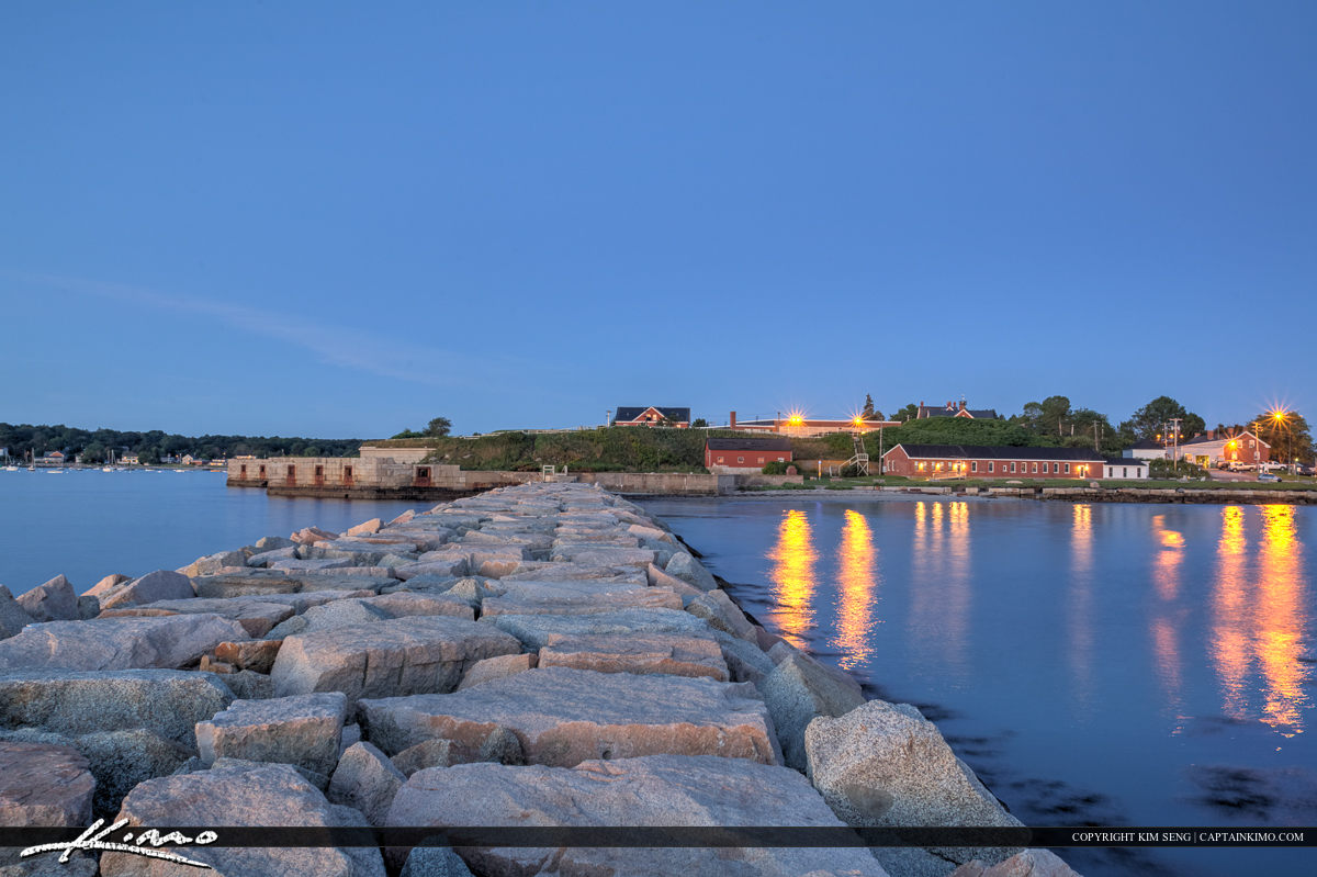South Portland Maine harbor early morning