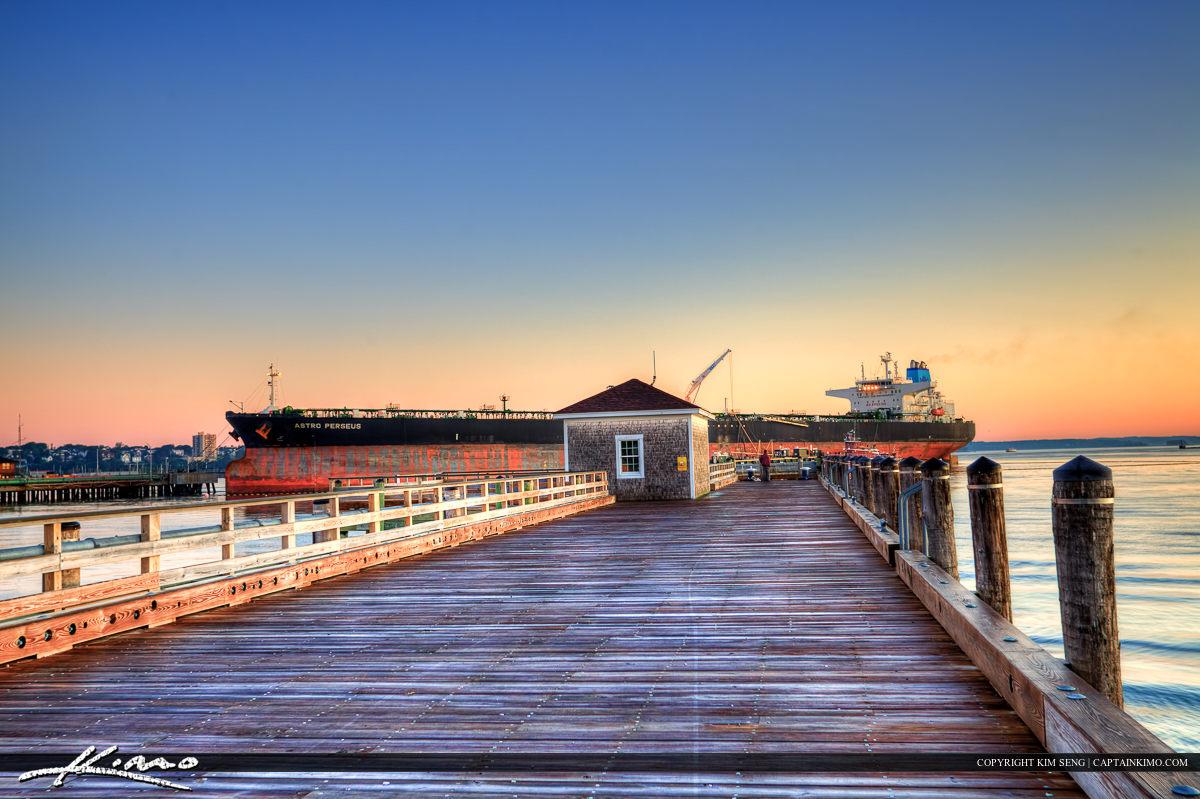 South Portland Maine cargo ship at the harbor