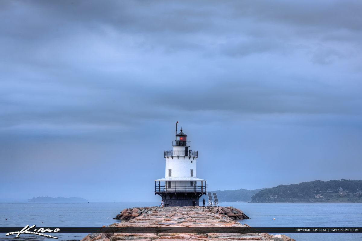 South Portland Maine at the spring ledge lighthouse