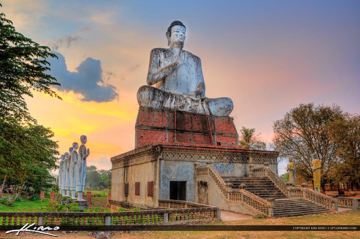 Sitting Buddha Battambang Cambodia