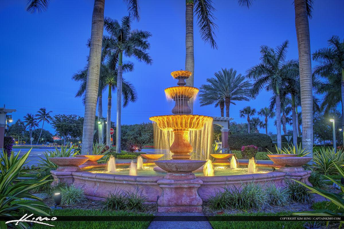 Riverwalk Jupiter Florida at Water Fountain