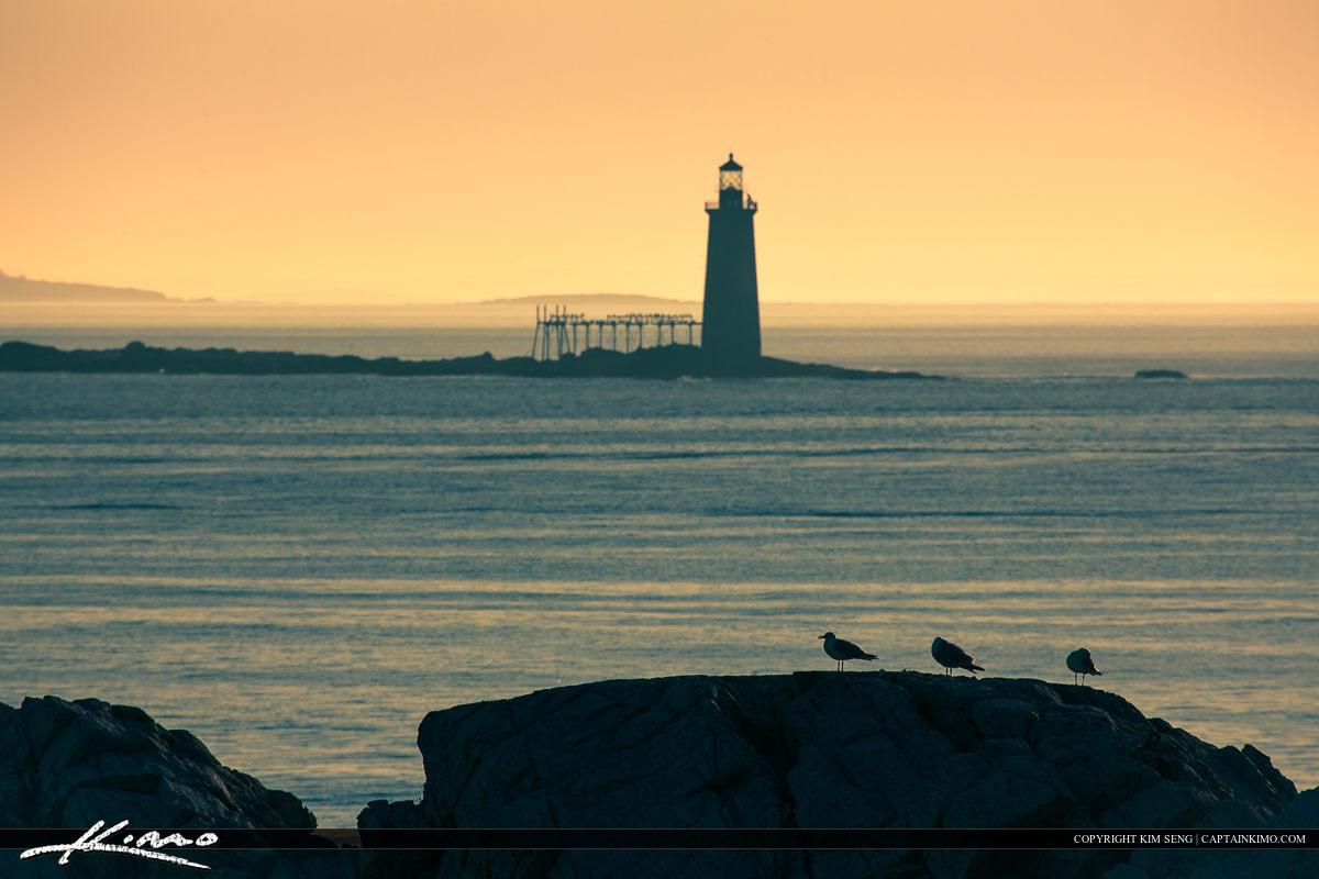 Ram Island Lighthouse Out to Sea